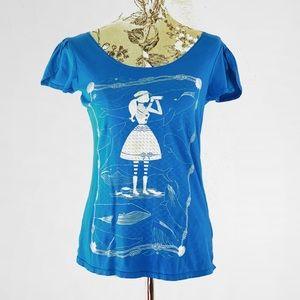 Blue Platypus ModCloth short sleeve tee shirt